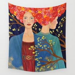 les ames soeurs Wall Tapestry