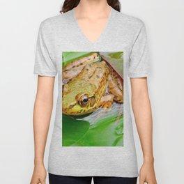 Frog on Pad Unisex V-Neck