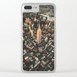 new york city aerial view Clear iPhone Case