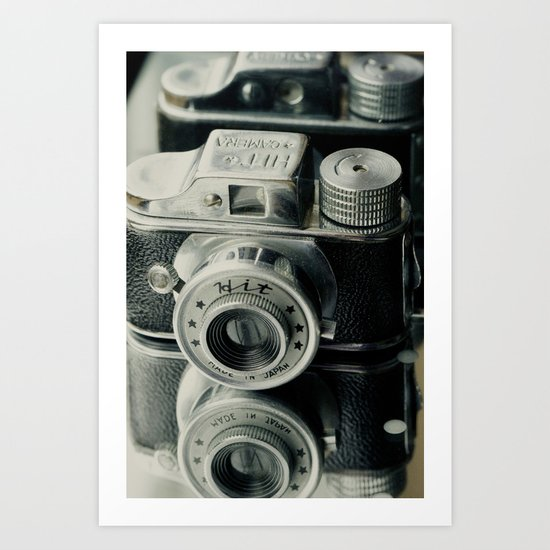Hit Vintage camera Art Print