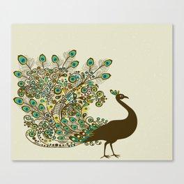 Art Peacock V6 Canvas Print