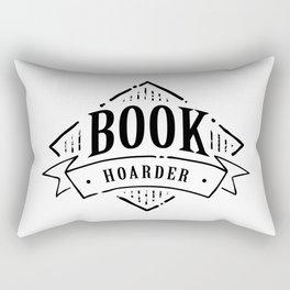 Book Hoarder Black Rectangular Pillow