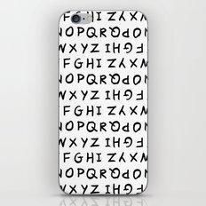 ABC on White iPhone & iPod Skin