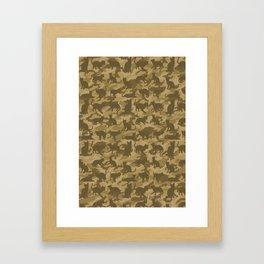 Operation Desert Cat Framed Art Print