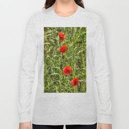 Summer Poppys Long Sleeve T-shirt