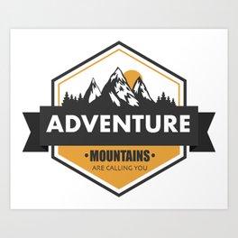 Adventure Mountain   Three Nomads Art Print