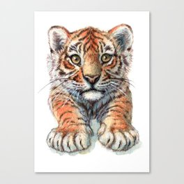 Playful Tiger Cub 907 Canvas Print