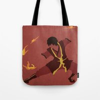 zuko Tote Bags featuring Zuko by JHTY