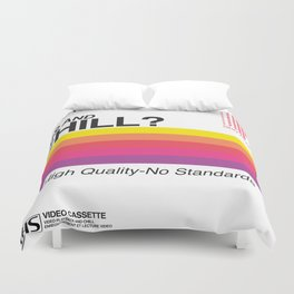 VHS and Chill Duvet Cover