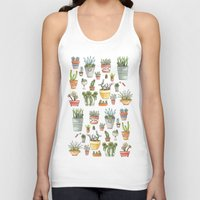 succulents Tank Tops featuring Potted Succulents by Brooke Weeber
