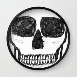 No. 89 - Black and white skull Wall Clock
