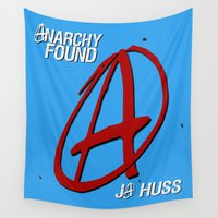 anarchy Wall Tapestries featuring Anarchy Found - A (Superhero Romance)  - by JA Huss by JA Huss