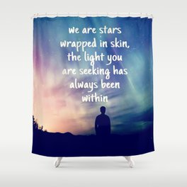 Stars Wrapped Shower Curtain