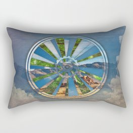 Bike Mandala Rectangular Pillow