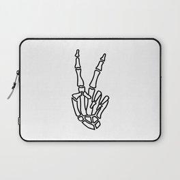 Peace skeleton hand Laptop Sleeve