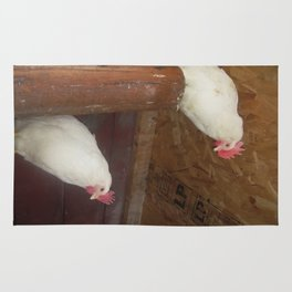 two chickens Rug