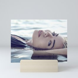 Beautiful Woman in the Water Mini Art Print
