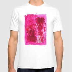 Suggestive White Mens Fitted Tee MEDIUM