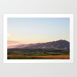 Bridger Range Art Print