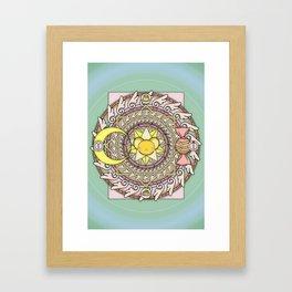 Cuteness Mandala Framed Art Print
