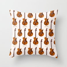 Merle Travis Bigsby Guitar Throw Pillow