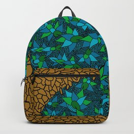 - blue flore in cosmogold - Backpack