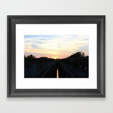 between bridges Framed Art Print