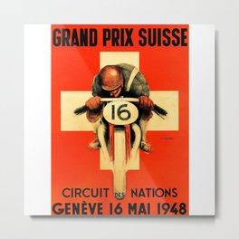 Grand Prix de Suisse, Race Poster, Vintage Poster, t-shirt Metal Print