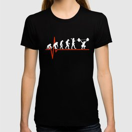 Weight Lifting Heartbeat - EVOLUTION OF T-shirt