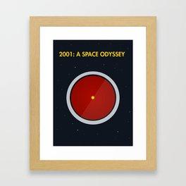 2001: A Space Odyssey - HAL 3000 Framed Art Print