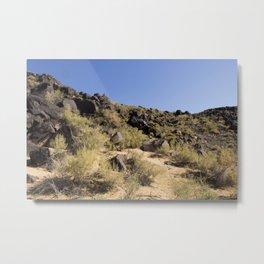 Rocky Landscape, Blue Sky Metal Print