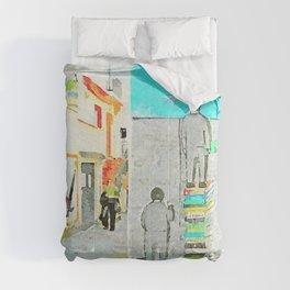 Foreshortening and murals Comforters