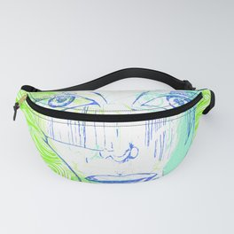 Mystical Neon Eyes Fanny Pack
