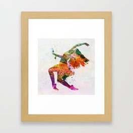 dancing to the night Framed Art Print