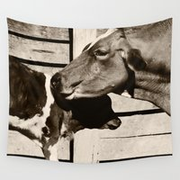 cows Wall Tapestries featuring Cows by Ana Francisconi