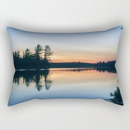 Boundary Waters Twilight Reflections Rectangular Pillow