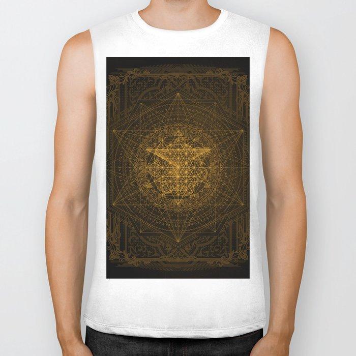 Dark Matter - Gold - By Aeonic Art Biker Tank