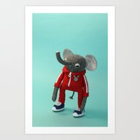 Elephant in a Tracksuit Art Print