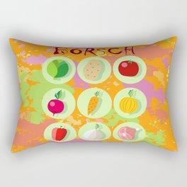 Borsch. Russian traditional dish. Rectangular Pillow