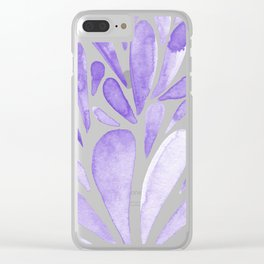 Watercolor artistic drops - lilac Clear iPhone Case