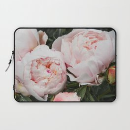 Flower Photography | Peonies Cluster | Blush Pink Floral | Peony Laptop Sleeve