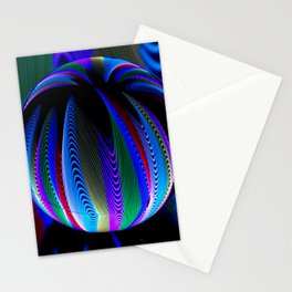 Colours in the crystal ball Stationery Cards