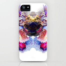 Condescending Bearded Dragon Escapes Masterful Punks in Need of Therapy iPhone Case