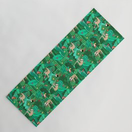 Sloths in the Emerald Jungle Pattern Yoga Mat