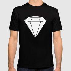 White Diamond Mens Fitted Tee Black MEDIUM