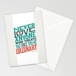 Never Ordinary - Oscar Wilde Stationery Cards