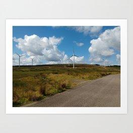 Hill Top Wind Farm Art Print