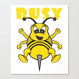 Busy bee This cute and adorable design will be a great reward for yourself and gift for your family! Canvas Print