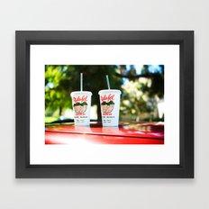 Falafel Drive-In Framed Art Print
