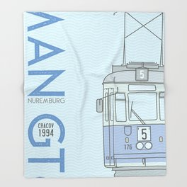 Trams of the World - Cracov Throw Blanket